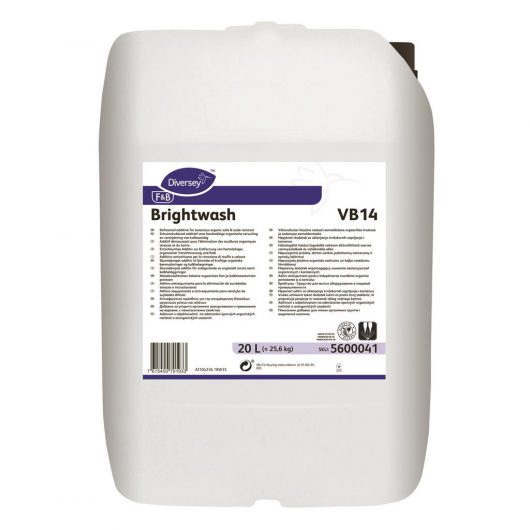 Diversey Brightwash 20L - Defoamed additive for tenacious organic soils & scale removal - 5600041 kopen bij Cleaning Store
