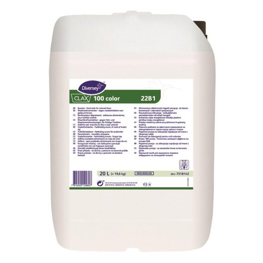 Clax Clax 100 color 20L - Booster - food soils - for coloured linen - 7518142 kopen bij Cleaning Store