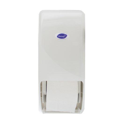 Diversey Compact doppenrol dubbel toiletpapierdispenser wit - D7524405