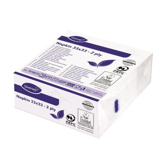 Diversey Napkin White 2ply 24x100pc - 7518273 kopen bij Cleaning Store