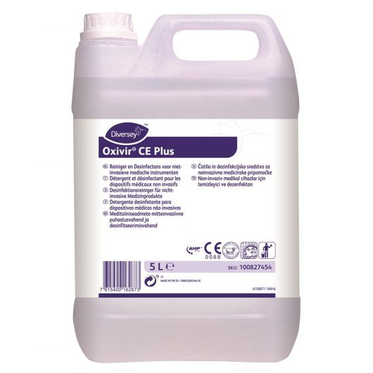 Diversey Oxivir CE Plus 2x5L - Cleaner & disinfectant for noninvasive medical devices and equipment - 100827454 kopen bij Cleaning Store