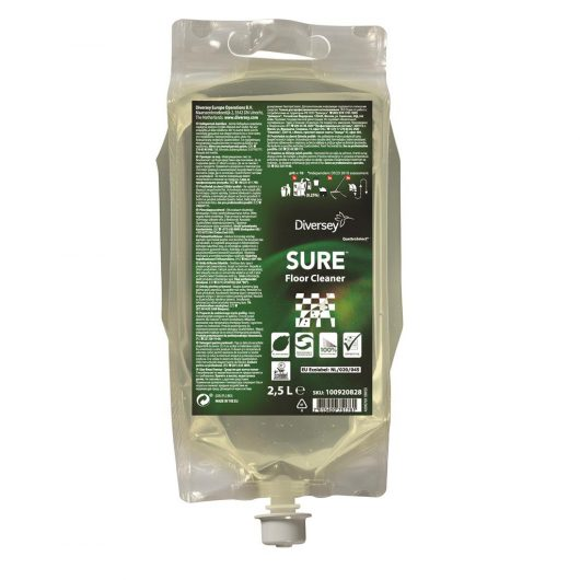 SURE SURE Floor Cleaner QS 2x2.5L - Daily floor cleaner in QuattroSelect® pouch - 100920828 kopen bij Cleaning Store