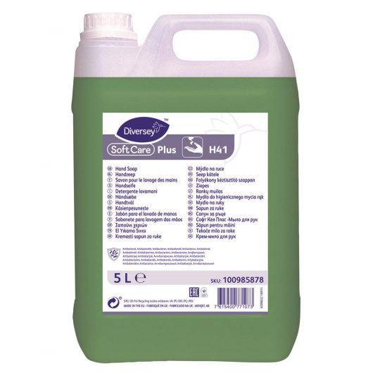 Soft Care Soft Care Plus 2x5L - Antibacterial Hand Soap - 100985878 kopen bij Cleaning Store