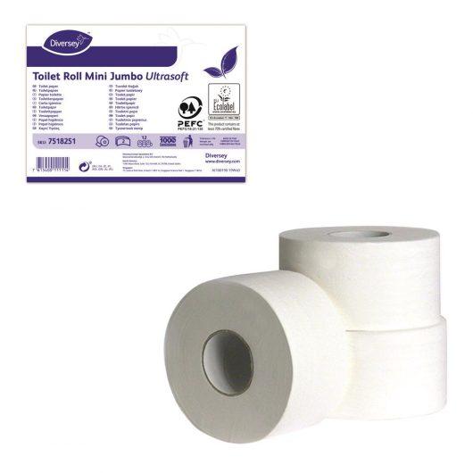 Diversey Toilet Mini Jumbo U-soft 2ply 12pc - 7518251 kopen bij Cleaning Store
