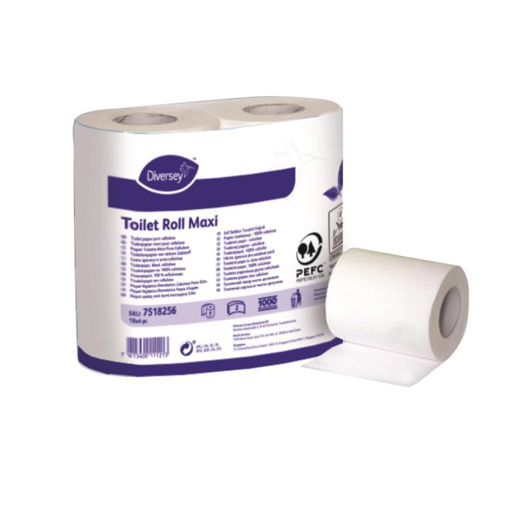 Diversey Toilet Roll Maxi 2ply 10x4pc - 7518256 kopen bij Cleaning Store