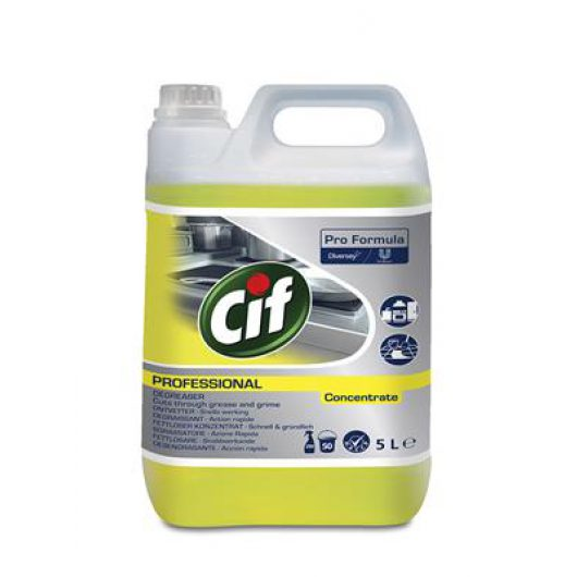 Cif Professional Degreaser Concentrate 2x5L - 100856436 kopen bij Cleaning Store